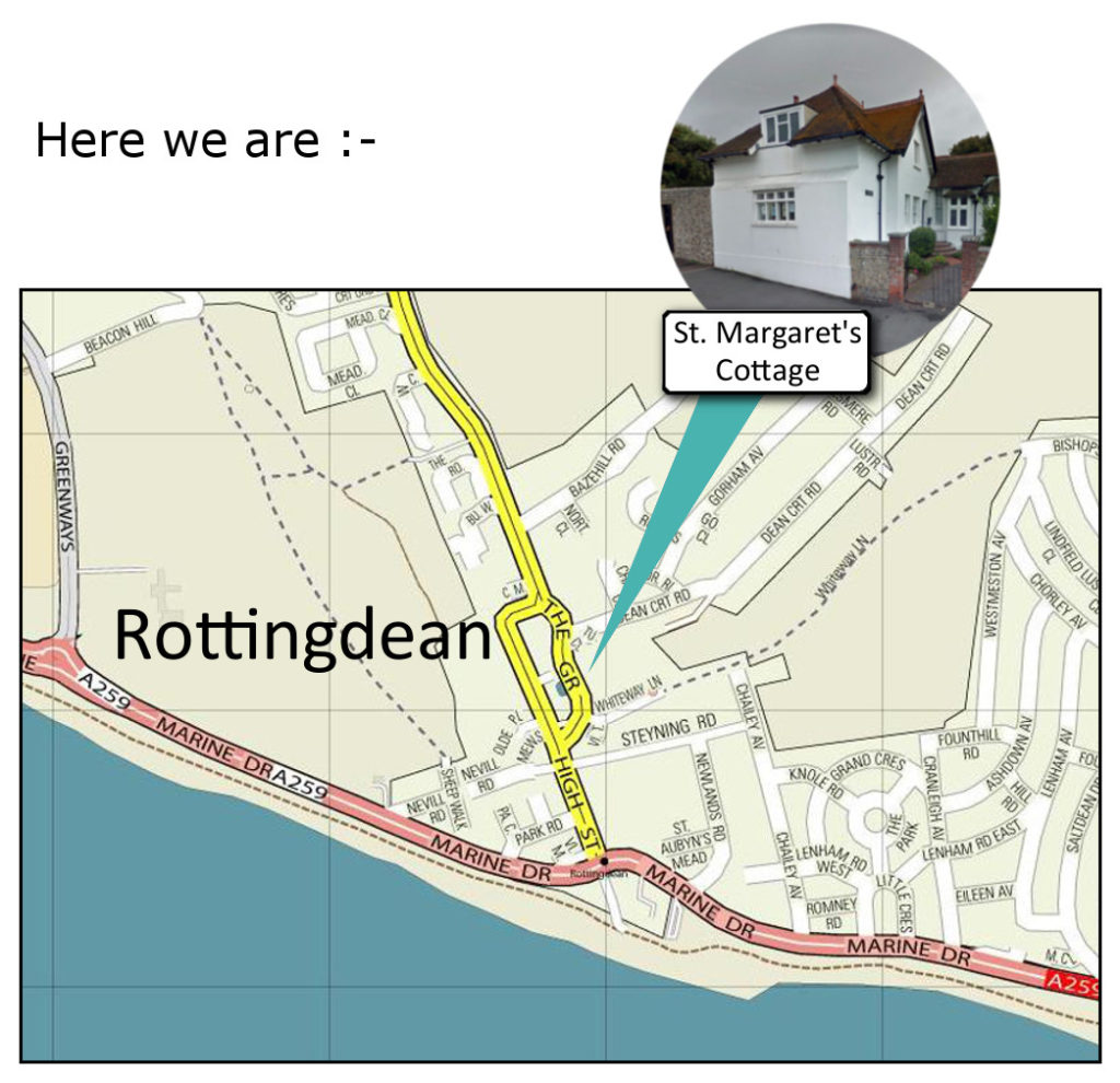 location of St Margaret's Cottage